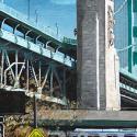 cityscapes, street scenes, buildings, bridges, transportation, houses, realism