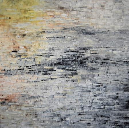 image of painting by artist Martha Hope Carey entitled Compression