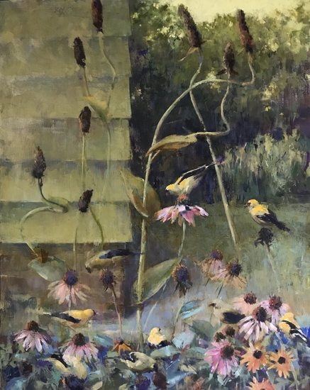 9 Goldfinches