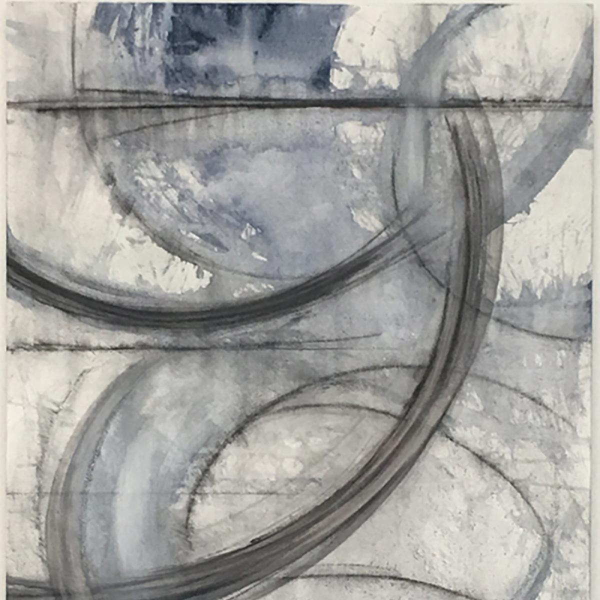 image of painting by artist Martha Hope Carey entitled Tether